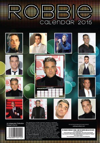 William Calendrier Calendrier Robbie Williams 2015 By Boutique Robbie