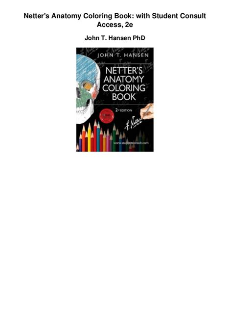 netter s anatomy coloring book with student consult access netters anatomy coloring book with student consult access