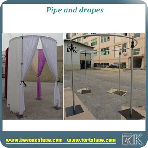 circular pipe and drape easy install circular pipe and drape wedding backdrop