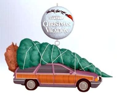 griswold christmas tree on the car traffic talk is it to a tree deer or other large item to the roof of