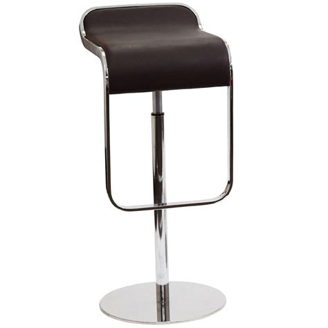 Modern Leather Bar Stools by Modern Italian Leather Bar Stool With Chrome Frame Brown