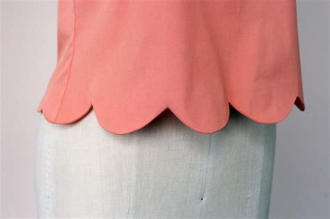 Scallop Detail Blouse Et Cetera tutorial make an easy scalloped hem colette