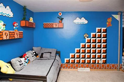 video game bedroom decor super mario bros themed bedroom hiconsumption