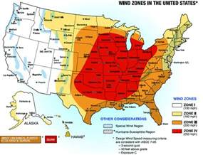 wind zones in the united states usda forest service