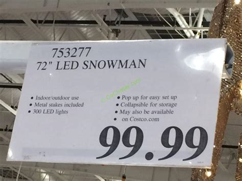 outdoor lighted snowman costco 72 led snowman costcochaser