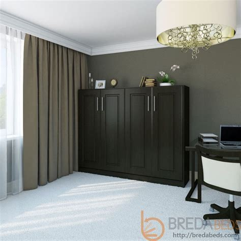 Horizontal Metropolitan Murphy Bed 1200 From Bredabeds Horizontal Murphy Bed Frame