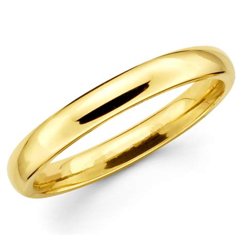10k Gold Wedding Band by 10k Solid Yellow Gold 3mm Plain S And S Wedding