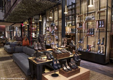 boot store banker wire makes fashion statement at flagship frye store