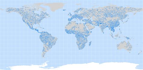 world map of large rivers world river map
