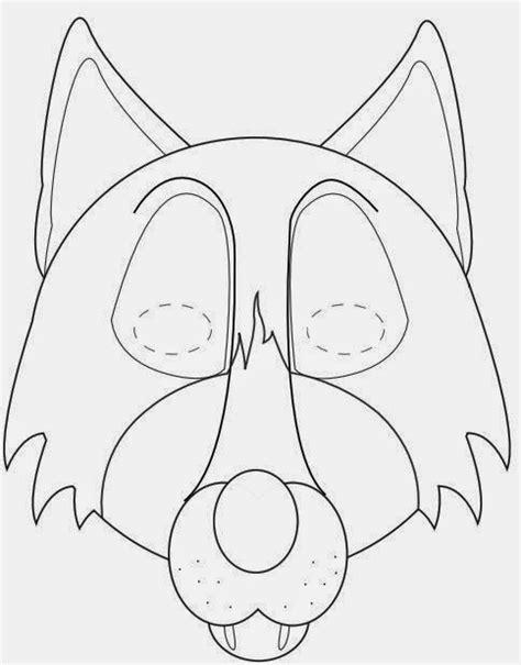 printable wolf mask template mascaras para imprimir y colorear dibujos escolares