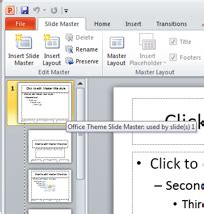 powerpoint themes not showing powerpoint slide master winstudent
