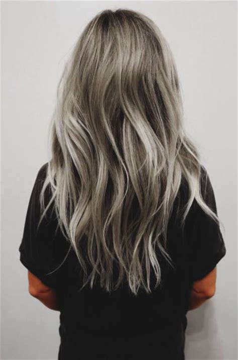 Ombre Hair Color For Salt And Pepper Hair | salt pepper silver ombre curl up dye pinterest