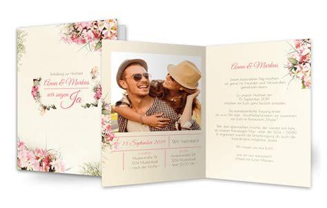 Einladungskarten Hochzeit Blumen by Einladungskarte Vintage Blumen Zur Hochzeit