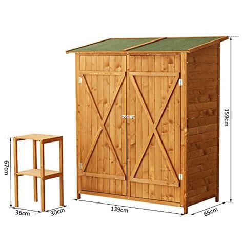 ripostiglio in legno da giardino outsunny casetta armadio porta attrezzi per esterno