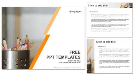 powerpoint themes education free coloured pencils education ppt templates