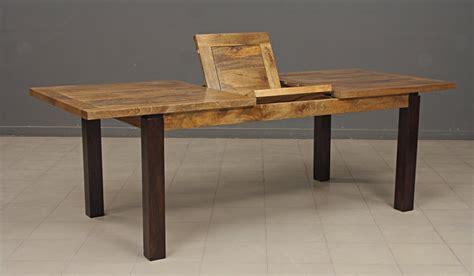 table repas rectangulaire bois exotique avec rallonge