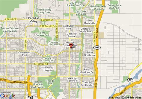 us map scottsdale arizona map of marriott suites town scottsdale scottsdale