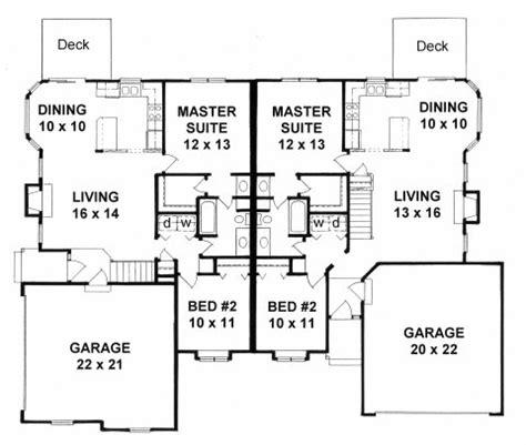 ranch duplex floor plans plan 1944 2 bedroom ranch duplex corner lot