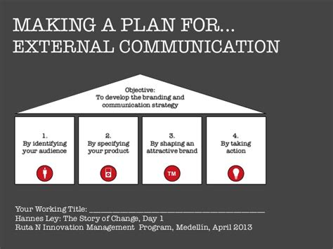 Making A Plan For External Communication External Communication Strategy Template