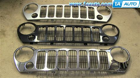 2006 jeep liberty grill how to install replace front radiator grille 2005 07 jeep