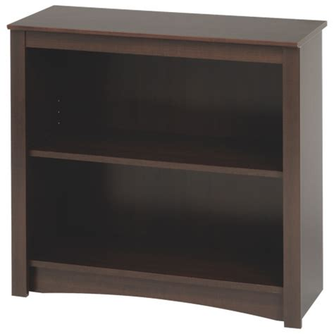 29 quot 2 shelf bookcase espresso brown bookcases