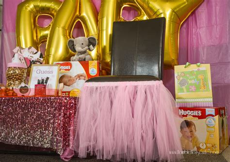How To Decorate A Baby Shower by Pink And Gold Princess Elephant Baby Shower Ideas