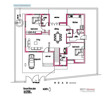 square house floor plans modern house plan 2800 sq ft kerala home design and