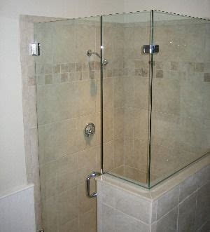 Shower With Half Wall And Glass Door Glass Shower Door And Glass Half Wall Home Decor
