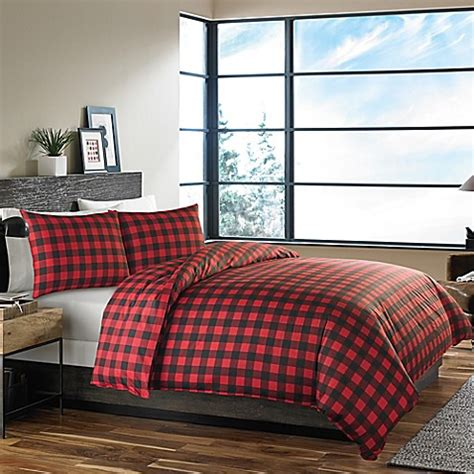 plaid twin bedding buy eddie bauer 174 mountain plaid twin comforter set in red from bed bath beyond