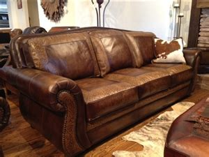 sedona tooled leather sofa town country leather