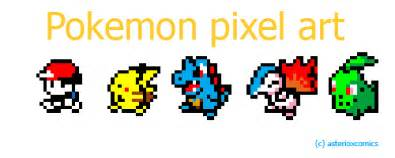 Pokemon pixel art asterioxcomics by asterioxcomics d5qbdnb