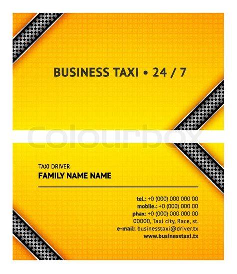 taxi name card template business card taxi stock vector colourbox