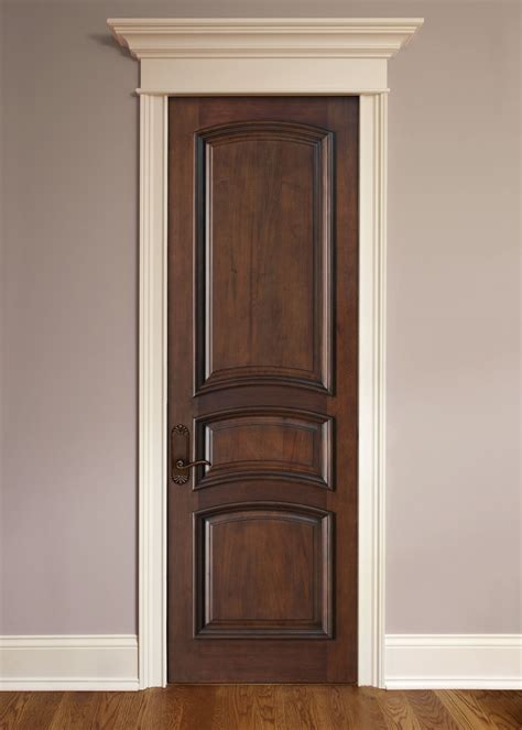 Interior Mahogany Doors Interior Door Custom Single Solid Wood With Walnut Finish Artisan Model Dbi 3030r
