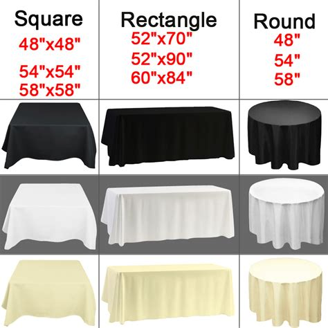 54x54 Quot Square Tablecloth Polyester Table Cover Cloth