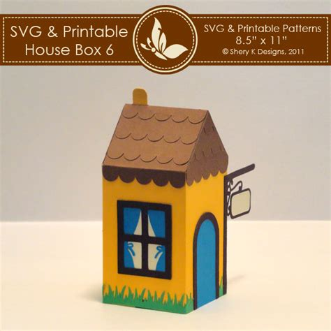 pattern box house svg printable house box 6 shery k designs