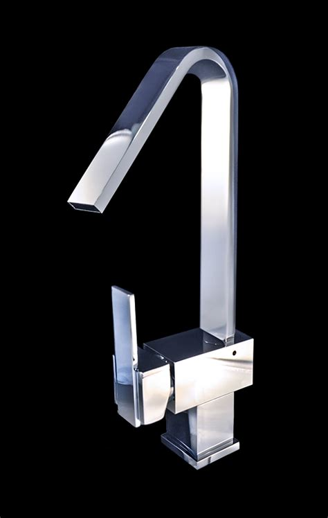 Chrome Bathroom Fixtures Piegarsi Chrome Finish Modern Bathroom Faucet