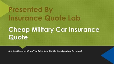 military car insurance quote