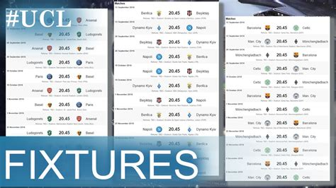 uefa chions league fixtures table fixtures of chions league how to open facebook when