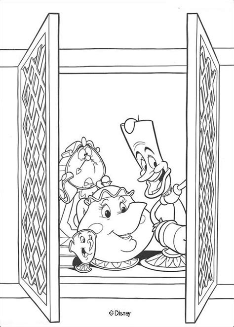 chip beauty and the beast coloring pages mrs potts chip lumiere and cogsworth coloring pages