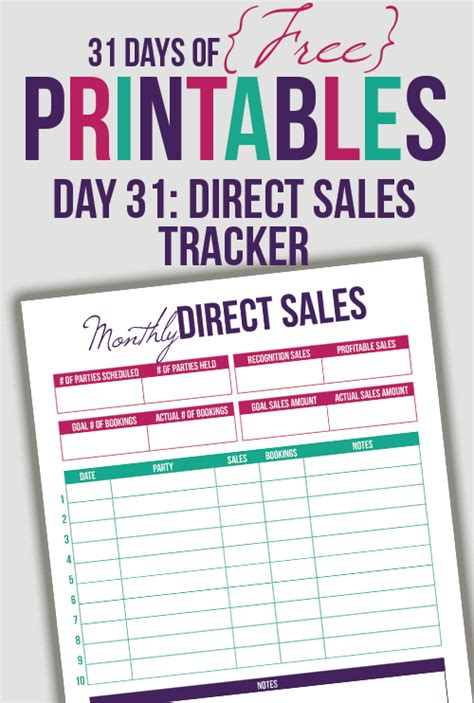 Direct Sales Tracker Printable Day 31 I Heart Planners Direct Sales Business Plan Template Free
