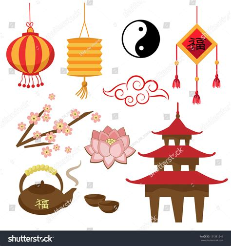 new year symbols and customs set of objects the tradition vector