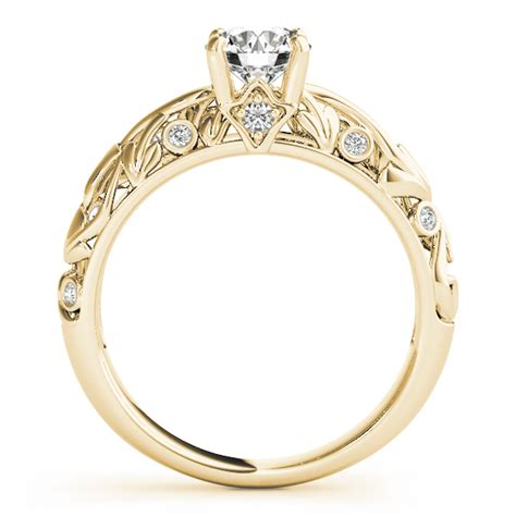 antique style engagement ring 14k yellow gold 0