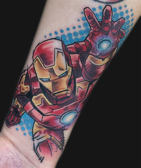 iron man tattoos cool ironman on forearm