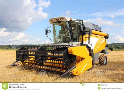 Steunk Combines Modern Tech With Elements by Modern Combine Harvester On Field Stock Photos Image