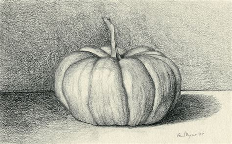 pumpkin sketches paul r keysar pumpkin graphite drawing