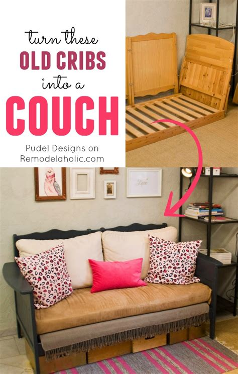 how to renovate old sofa remodelaholic upcycled crib into couch