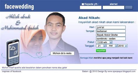 template undangan pernikahan model facebook kumpulan surat undangan pernikahan anti mainstream