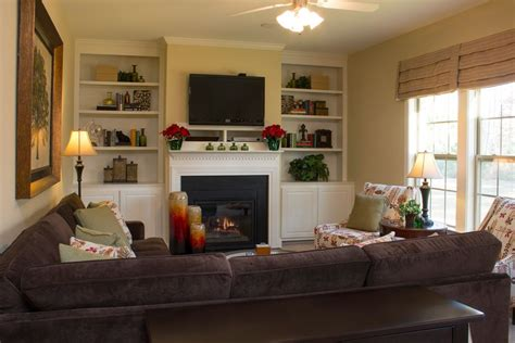 family room tv carteret floorplan cozy family room with mounted tv over