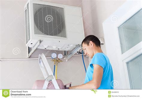 air conditioner freon refill freon air conditioner refill stock photo image 55439310