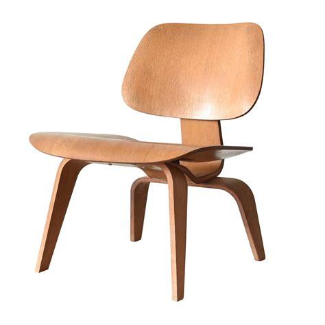 eames lcw herman miller usa oak lounge chair at 1stdibs